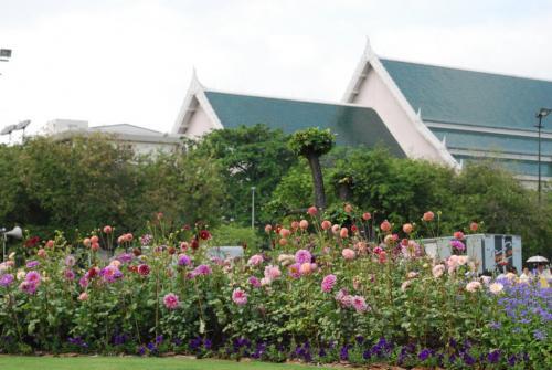 ดอกไม้ในนิทรรศการพระเมรุ